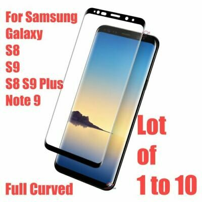 9H Samsung Galaxy S9 S8 Plus Note 8 9 Full Cover Tempered Glass Screen Protector