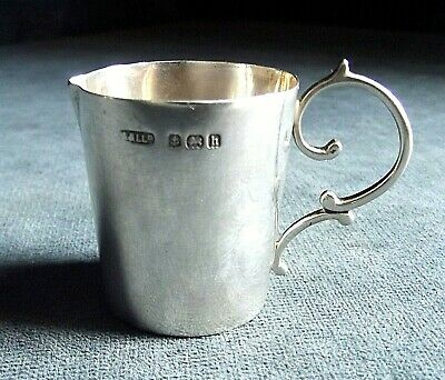 SUPERB Petite ~ SOLID SILVER ~ Cream JUG  ~ B'ham 1907 by Adie & Lovekin