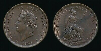1825 George IV.....Copper PENNY....Nice Lustre......Fast Post