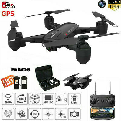 Drone x pro 5G WIFI FPV GPS 1080P HD Camera RC Quadcopter & 2 Batteries & Bag M0