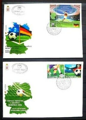 Bosnia Serbia Republic Srpska 2006 FDC serie e BF calcio world cup Germany