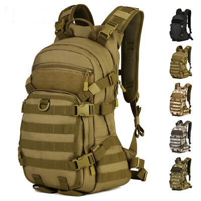 25L Military Tactical Army Backpack Rucksack Camping Hiking Trekking Bag Outdoor
