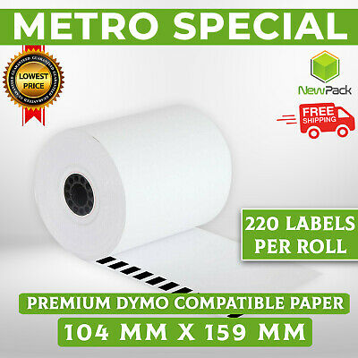 5x Dymo 4XL Compatible Extra Large 104x159mm Shipping Labels SD0904980 220 roll