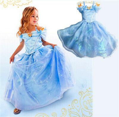 Girls Princess Belle Cinderella Aurora Dress Fancy Party Costume Cosplay Lot