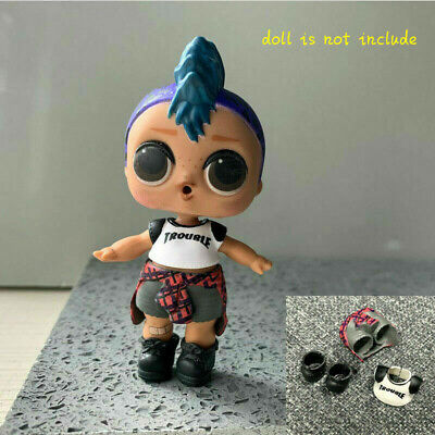 Original PUNK BOI BOY Outfit Cloth & SHOES For Lol Surprise L.O.L. PUNK BOY Doll