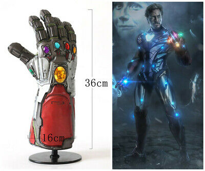 Avengers Endgame Iron Man Tony Stark Thanos Infinity Stone Gloves Props Gauntlet