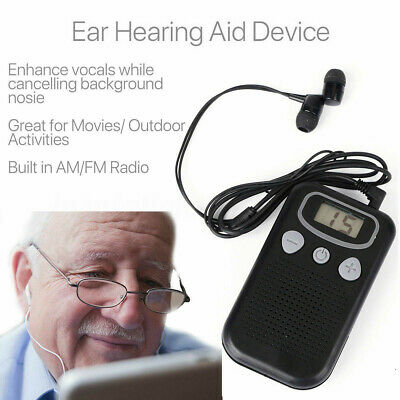 Rechargeable Personal Ear Hearing Aid Booster Sound Hearing Amplifier Digital !