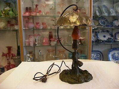 Antique Vtg Art Nouveau - Arts & Crafts - Signed Pairpoint Metal Lamp