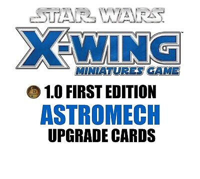 Star Wars X-Wing 1.0 Miniatures Game - Astromech Single Upgrade Cards
