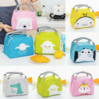 Childrens Adult Kids Lunch Bag Cool Bag School Sheep Cat Gift Insulated Bags