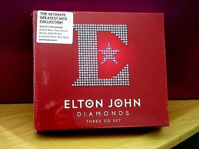 Elton John     Diamonds    3 X Cd Set     Brand New & Cellophane Sealed