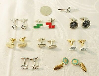 *Exquisite Vintage Quality Cufflinks 8 Pairs + 1 Tie Pin Last Century Collection