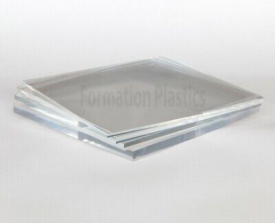 Clear Acrylic Plastic Perspex Sheet Cut To Size Custom Panels Free Polished Edge