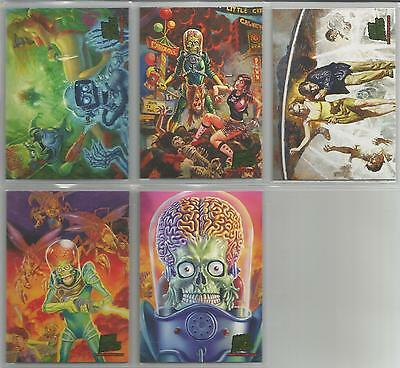 "Mars Attacks Invasion - ""Masterpieces"" Set of 5 Chase Cards #1-5"