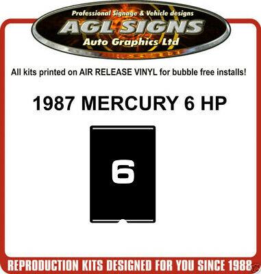 1987  MERCURY 6 HP Reproduction faceplate Decal