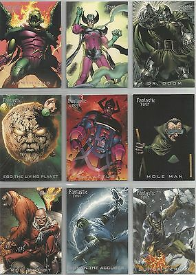 "Fantastic Four Archives - ""Nemesis"" Set of 9 Chase Cards #N1-N9"