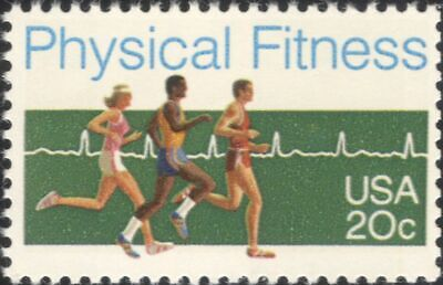 USA 1983 Physical Fitness Campaign/Runners/Athletics/Sports/Running 1v (us1002)