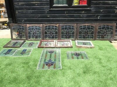 Bundle Of Stained Glass Window Units Panels 15 Units In Total Leaded Lights