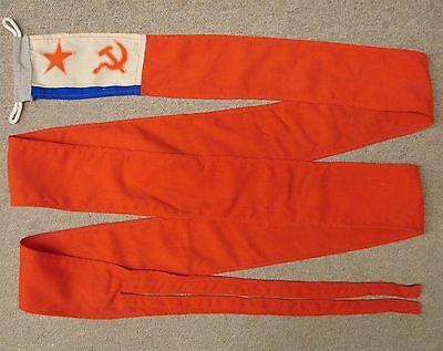 Soviet Russian Navy BIG CAMPAIGN PENNANT 12'Long Naval Flag ORIGINAL A+Condition