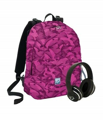 Zaino Scuola Seven Rosa Reversibile Con Cuffie Wireless  PS 30504