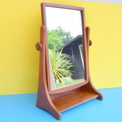 VINTAGE 1960s G PLAN RARE Freestanding MIRROR - TEAK - HIGH QUALITY retro
