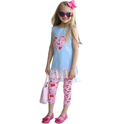 3526e3976042 AnnLoren Baby Girls sz 2/3T High Low Fashion Heart Boutique Spring Outfit