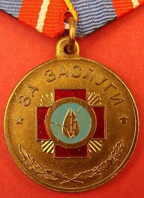 Russian CHERNOBYL MOVEMENT MEDAL FOR MERIT 1st cl. Nuclear Cleanup VETERAN Award