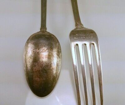 "Wallace French Regency ""Display"" Sterling Silver Spoon & Fork Set"