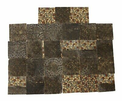 Maw & Co. Stone Mosaic Style Floor Tile Set
