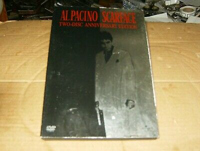 Scarface Starring Al Pacino 2-Disc DVDs Anniversary Edition,2003,Used.