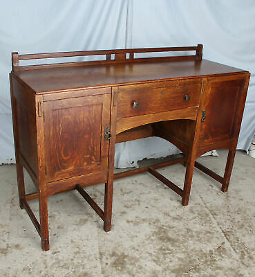 Antique unusual Mission Oak Buffet – Sideboard – 60″ width – Limbert