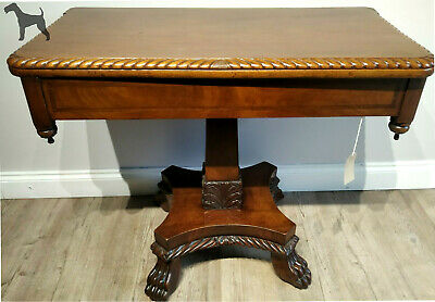 Antique Victorian Mahogany 19th Century Folding Tea Table