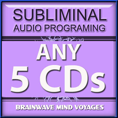 ANY 5 CDs SUBLIMINAL HYPNOSIS SELF IMPROVEMENT MIND PROGRAM IMPROVE YOUR LIFE