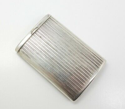Unusual Vintage Art Deco 1920s Swedish 830S Silver Sliding Match Safe