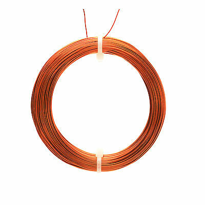 0.63mm ENAMELLED COPPER WIRE, MAGNET WIRE, COIL WIRE 100g Coil (36mtrs)