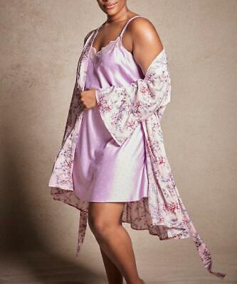 I.N.C. INTERNATIONAL CONCEPTS® Plus Size 3X Chemise & Flounce Wrap Robe NWT $100