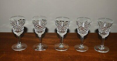Beautiful Set Of 5 Waterford Cut Crystal Alana Cordial Glasses - Liqueur