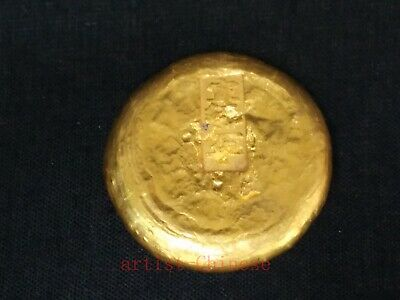Collectable art China Old Brass Ingot Not Gold Carved Xuantong 2 year Gift