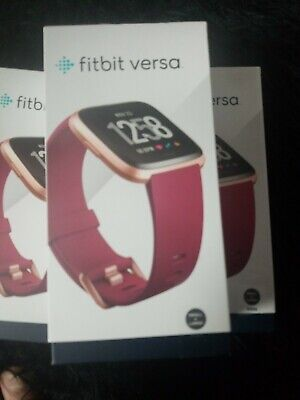 FITBIT VERSA ROSE gold, slightly used, reset to factory