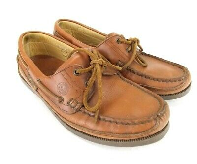 8dfb989772e Mephisto Spinnaker Boat Shoes Leather Mens 8.5 Brown Moccasin Loafer Comfort