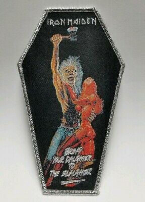 iron maiden bring your daughter to the slaughter woven  PATCH