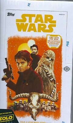 Star Wars solo a Star Wars  story factory sealed trading cards box 2 hits a box