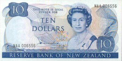 New Zealand Mint First Prefix $10 NAA 003 Hardie II Paper Banknote issue p172aF