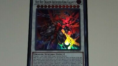 Hot Red Dragon Archfiend King Calamity DUPO-EN059 Yugioh! Ultra Rare 1st Edition