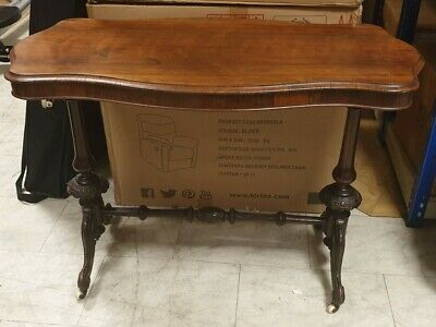 VICTORIAN REPRODUCTION Solid Wood / Mahogany Veneer Console Side Table - W74