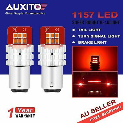 2x AUXITO 1157 BAY15D P21/5W RED LED Car Brake Tail Stop Parking Light  Globes