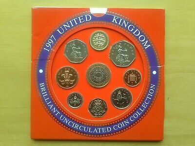 UK 1997 Brilliant Uncirculated 9 Coin Set  EXCELLENT CONDITION