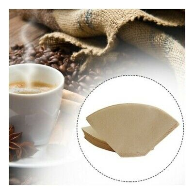 100x Unbleached Coffee Filter Papers Cones Cups Brewer Espresso Strainer Dripper