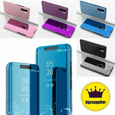 Huawei P20 Lite Mate P30 Pro P Smart View Mirror Leather Flip Stand Case Cover