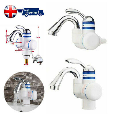 Bathroom Kitchen Electric Hot Water Heater Faucet Instant Heating Chrome Tap NEW